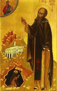 ikoon sint benedictus van nursia